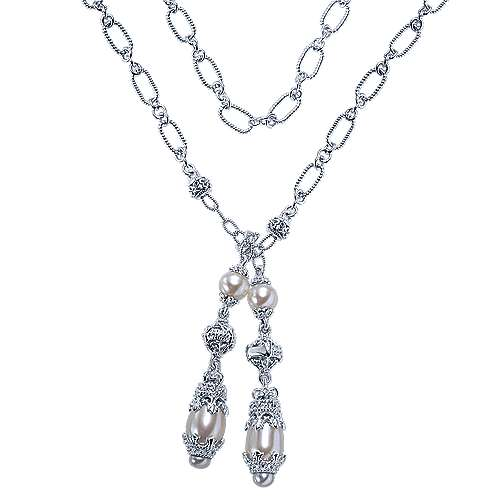 925 Silver Infinite Gems Lariat Necklace angle 1