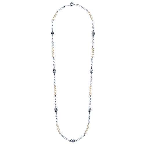925 Silver Infinite Gems Station Necklace angle 2