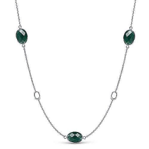 Gabriel - 925 Silver Infinite Gems Station Necklace