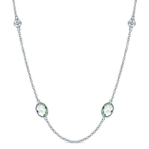Gabriel - 925 Silver Infinite Gems Station Necklace