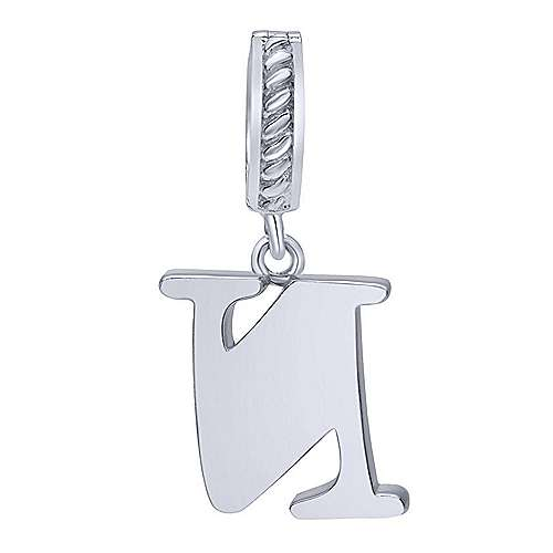 925 Silver Initial Pendant angle 2