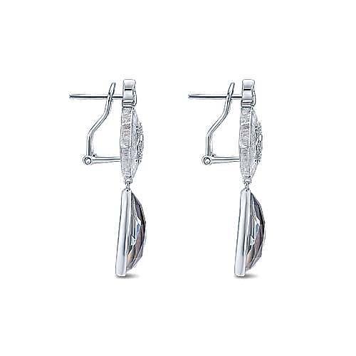 925 Silver Madison Drop Earrings angle 3