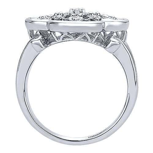 925 Silver Madison Fashion Ladies' Ring angle 2