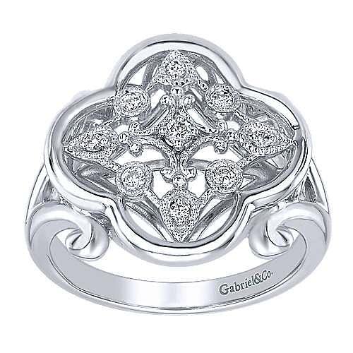 925 Silver Madison Fashion Ladies' Ring angle 4