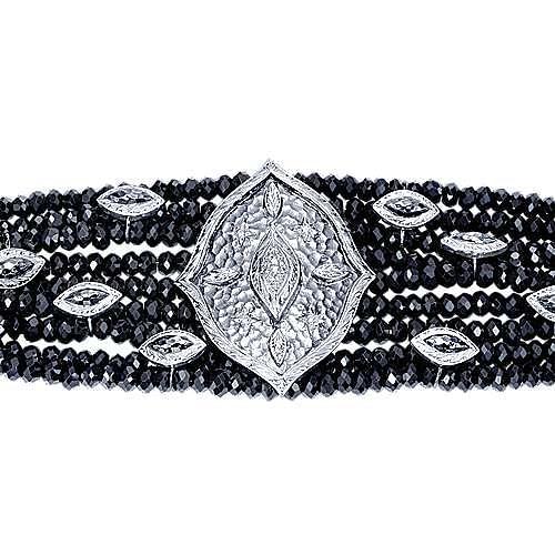 925 Silver Mediterranean Beads Bracelet angle 2