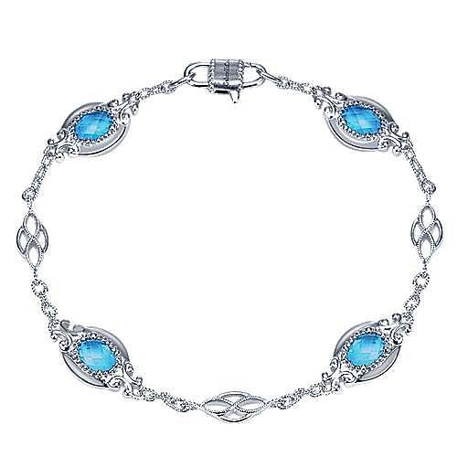 925 Silver Mediterranean Chain Bracelet angle 1