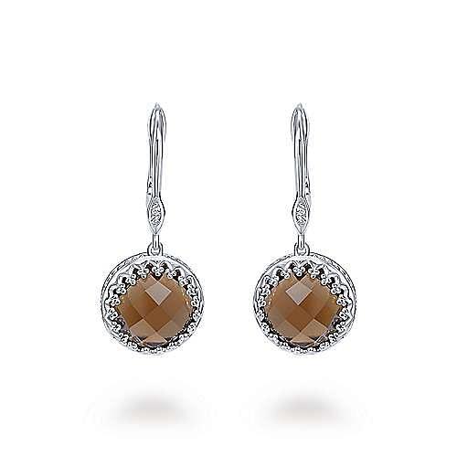 925 Silver Mediterranean Drop Earrings angle 1