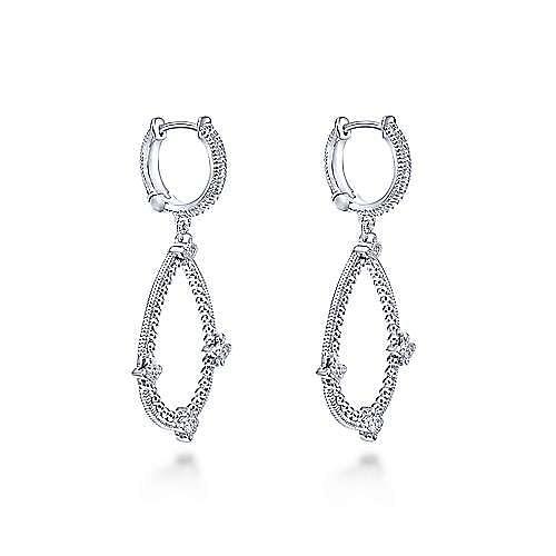 925 Silver Mediterranean Drop Earrings angle 2