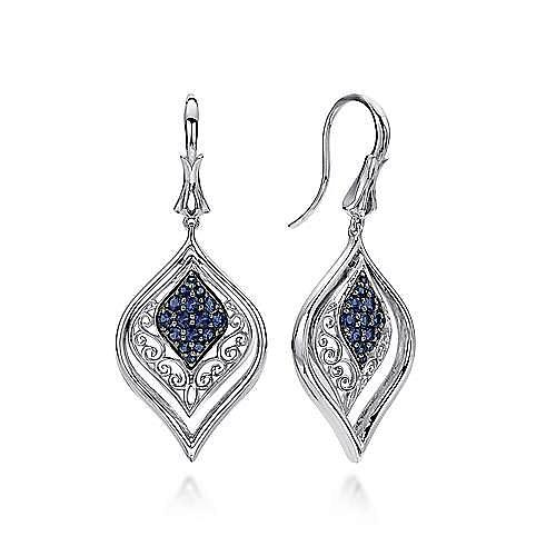 Gabriel - 925 Silver Mediterranean Drop Earrings