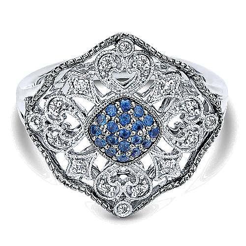 925 Silver Mediterranean Fashion Ladies' Ring angle 1