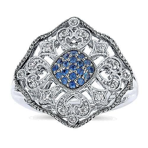 925 Silver Mediterranean Fashion Ladies' Ring angle 4