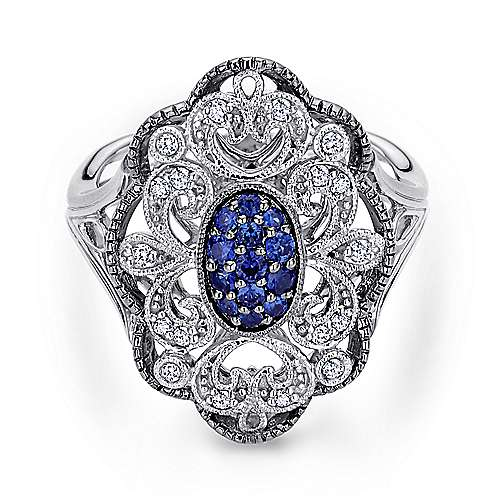 925 Silver Mediterranean Fashion Ladies' Ring angle 1