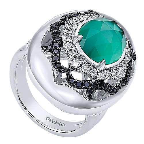 925 Silver Mediterranean Fashion Ladies' Ring angle 3