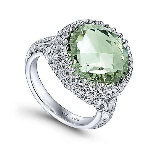 Mediterranean Clothes Style: 925 Silver Mediterranean Fashion Ladies' Ring