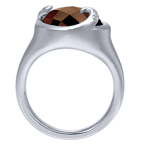 925 Silver Mediterranean Fashion Ladies' Ring angle 2