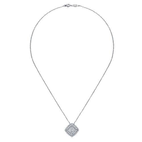 925 Silver Mediterranean Fashion Necklace angle 2