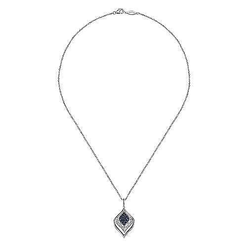 925 Silver Mediterranean Fashion Necklace angle 2