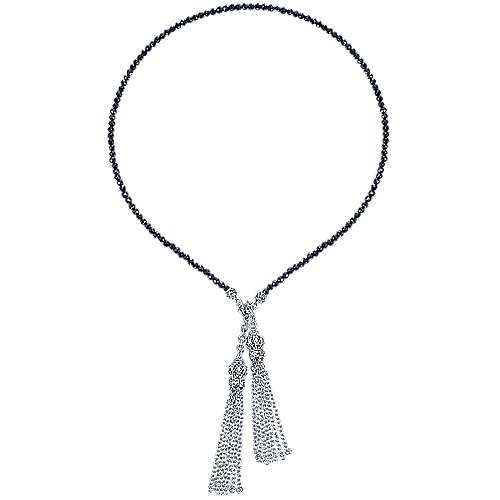 925 Silver Mediterranean Lariat Necklace angle 2