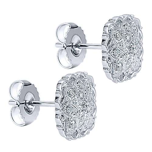 925 Silver Mediterranean Stud Earrings angle 2