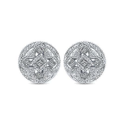 925 Silver Mediterranean Stud Earrings angle 1