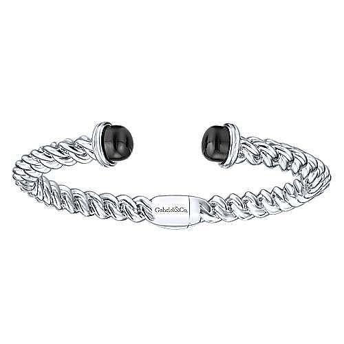 925 Silver Onyx Bangle
