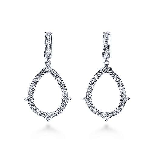 925 Silver Roman Drop Earrings angle 1
