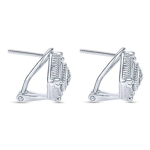 925 Silver Roman Stud Earrings angle 2