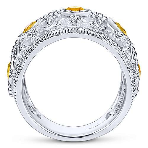 925 Silver Roman Wide Band Ladies' Ring angle 2
