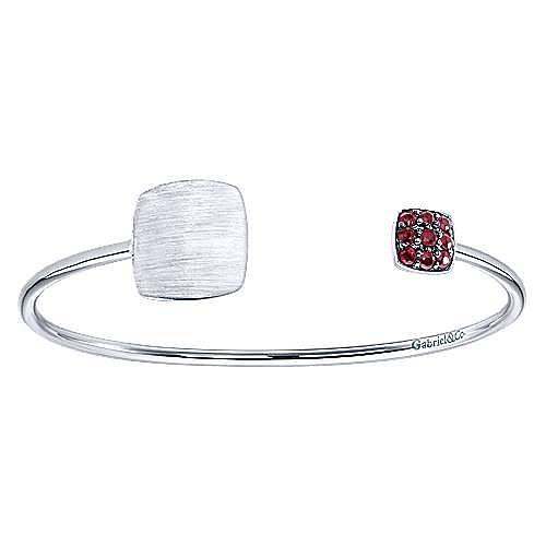 925 Silver Ruby Engravable Bangle