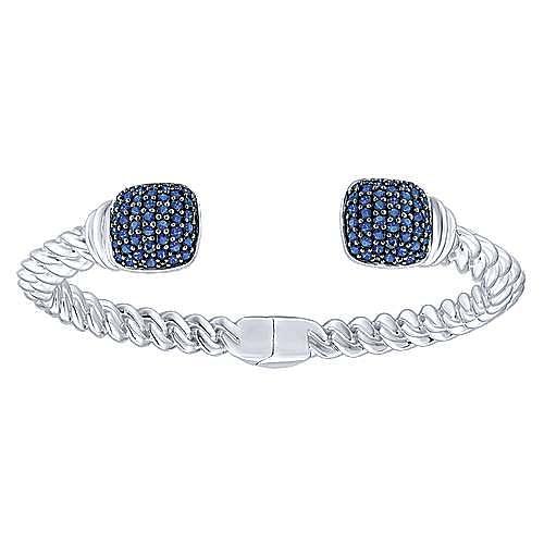 925 Silver Sapphire Bangle