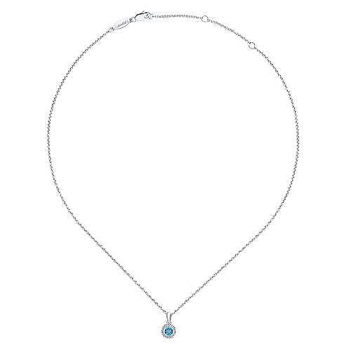 925 Silver Secret Garden Fashion Necklace angle 2