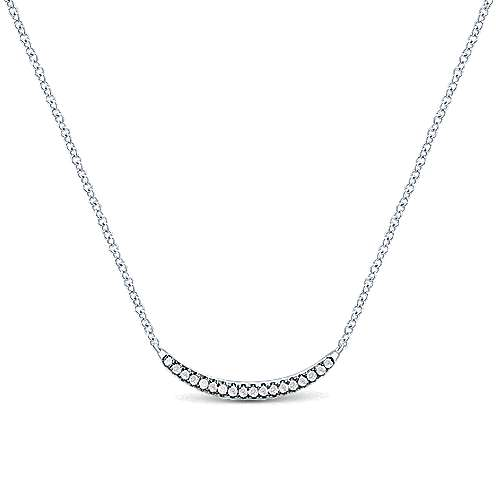 925 Silver Shadow Play Bar Necklace angle 1