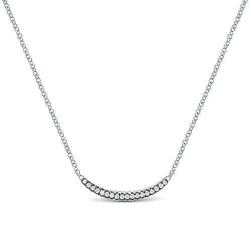 Gabriel - 925 Silver Shadow Play Bar Necklace