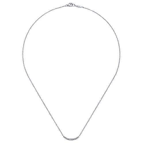 925 Silver Shadow Play Bar Necklace angle 2