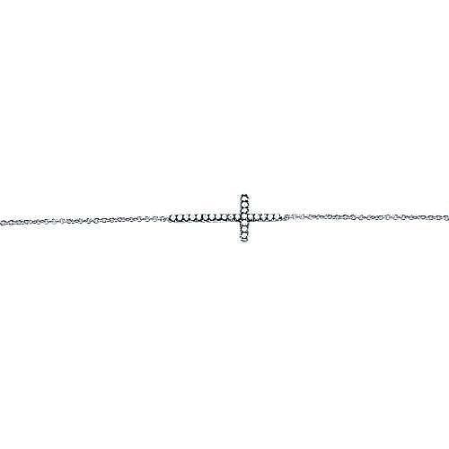 925 Silver Shadow Play Cross Bracelet angle 2