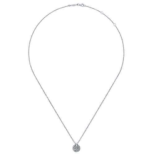 925 Silver Shadow Play Fashion Necklace angle 2
