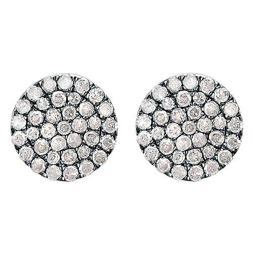 Gabriel - 925 Silver Shadow Play Stud Earrings