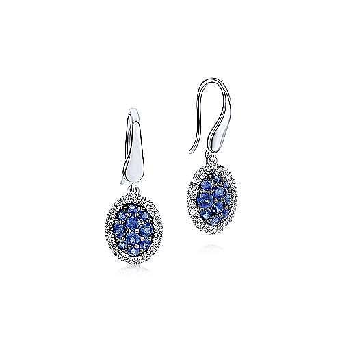 925 Silver Silk Drop Earrings angle 1