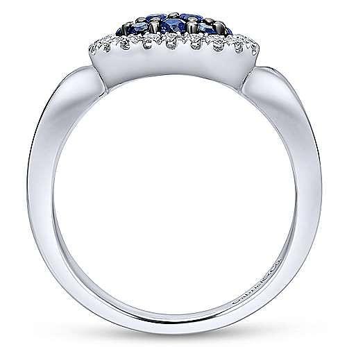 925 Silver Silk Fashion Ladies' Ring angle 2