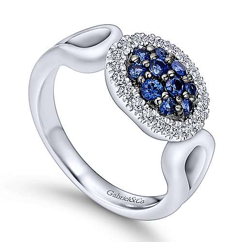 925 Silver Silk Fashion Ladies' Ring angle 3