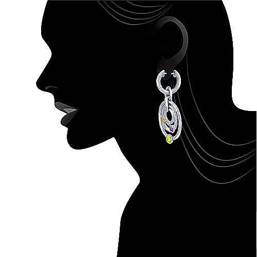 925 Silver Souviens Drop Earrings angle 4