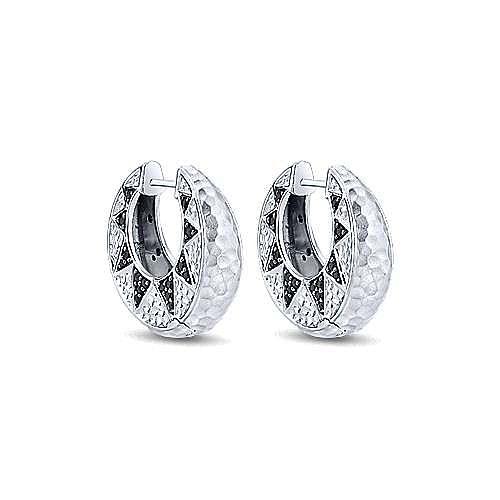 Gabriel - 925 Silver Souviens Huggie Earrings