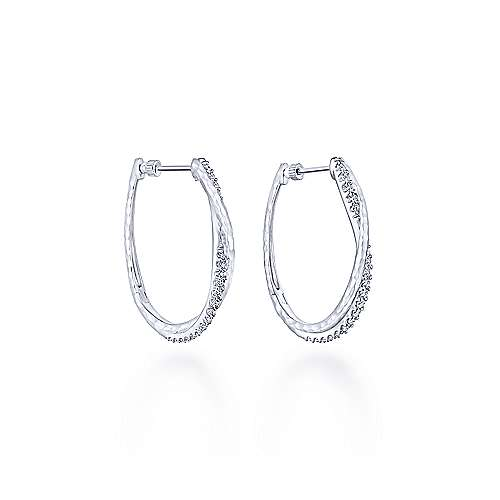 Gabriel - 925 Silver Souviens Intricate Hoop Earrings