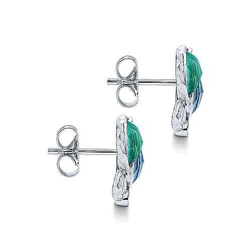 925 Silver Souviens Stud Earrings angle 3