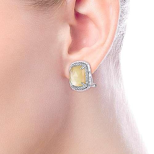 925 Silver Souviens Stud Earrings angle 4