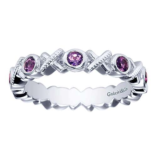 925 Silver Stackable Ladies' Ring angle 4