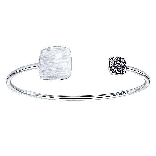 925 Silver Syn. Alexdrite Engravable Bangle