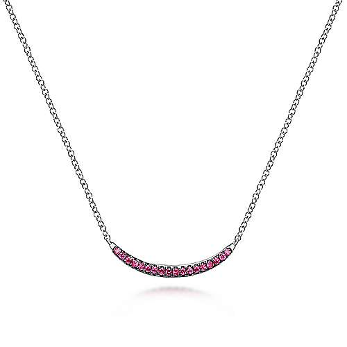 925 Silver Trends Bar Necklace angle 1