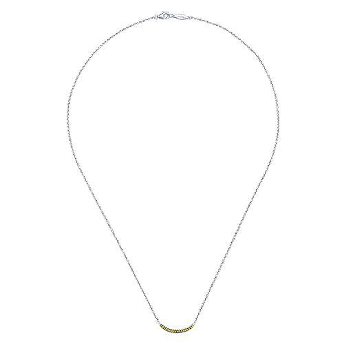 925 Silver Trends Bar Necklace angle 2