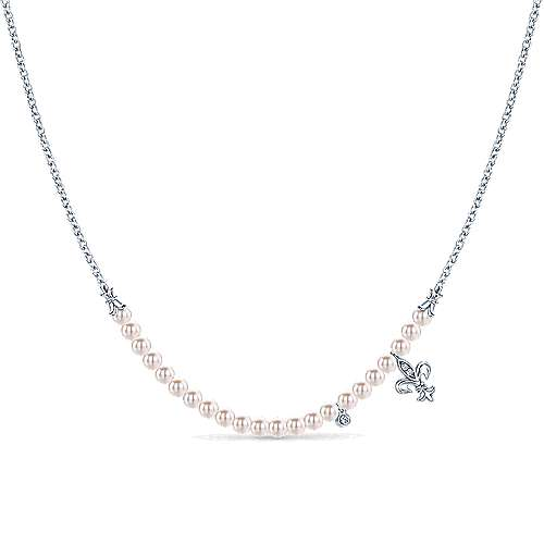 925 Silver Trends Fashion Necklace angle 1